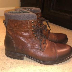Aldo Leather Lace up and zipper boots